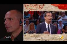"Embedded thumbnail for Varoufakis e Saviano le ""cantano"" a Salvini"